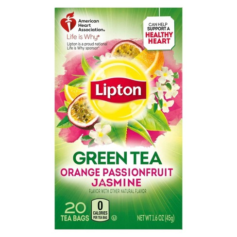 Lipton Orange Passionfruit Jasmine Green Tea - 20ct - image 1 of 4