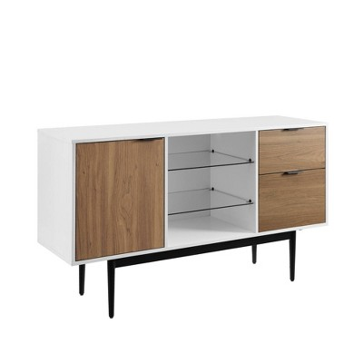 Timmy Modern Lifted Triple Storage Sideboard - Saracina Home