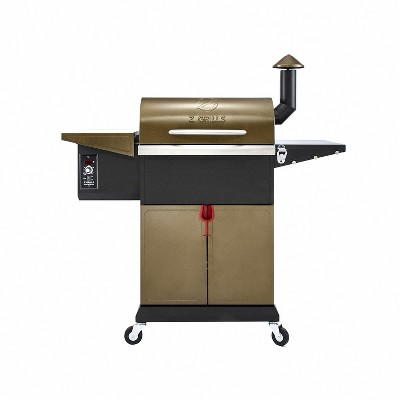 Z GRILLS ZPG-L600D 8 in 1 Wood Pellet Portable Steel Constructed Grill Smoker for Outdoor BBQ Cooking with Digital Temperature Control, Bronze