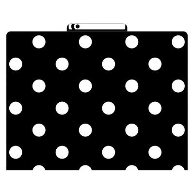 "Barker Creek File Folders, 9.5"" x 12"", 12ct - Black & White Dot"