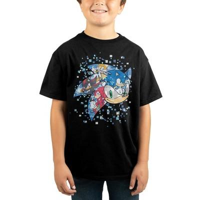 Sonic The Hedgehog Pixelated Youth Boys Short-Sleeve T-Shirt