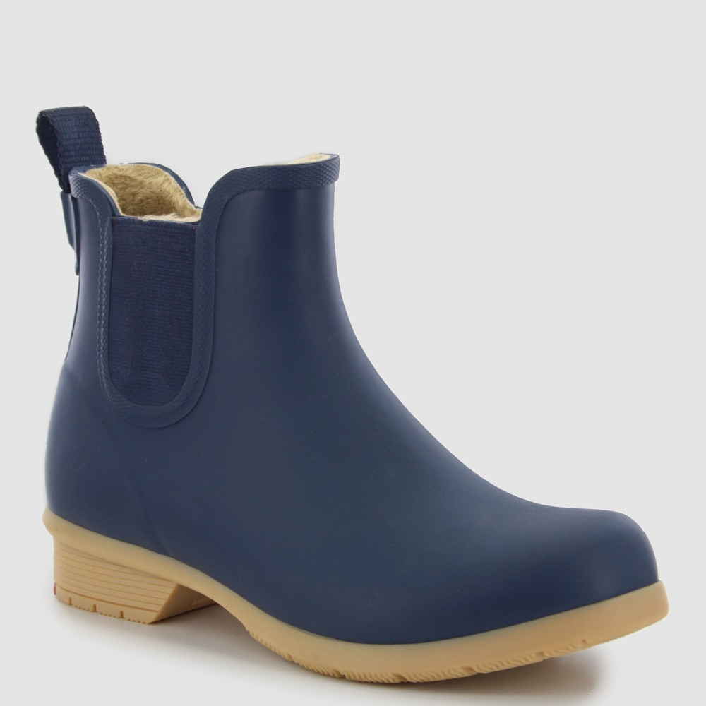 Women's Chooka Bainbridge Chelsea Matte Rain Boot - Navy (Blue) 7