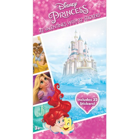 32ct Disney Princess Valentine Card Pack with Sticker - image 1 of 1