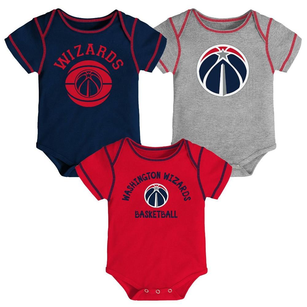 Nba Washington Wizards Baby Boys 39 Rookie Bodysuit Set 3pk 6 9m