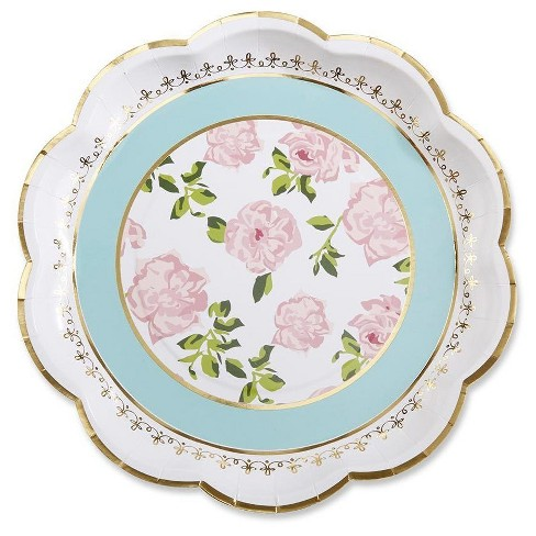 24ct Kate Aspen Tea Time Whimsy Paper Plates - image 1 of 1