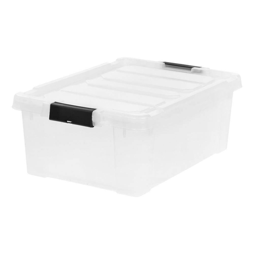 Image of IRIS 10 Gal. Heavy Duty Plastic Storage Bin - 4pk, Clear