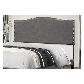Kiley Upholstered Headboard King Stone Fabric Metal Headboard Frame Not Included - Hillsdale Furniture
