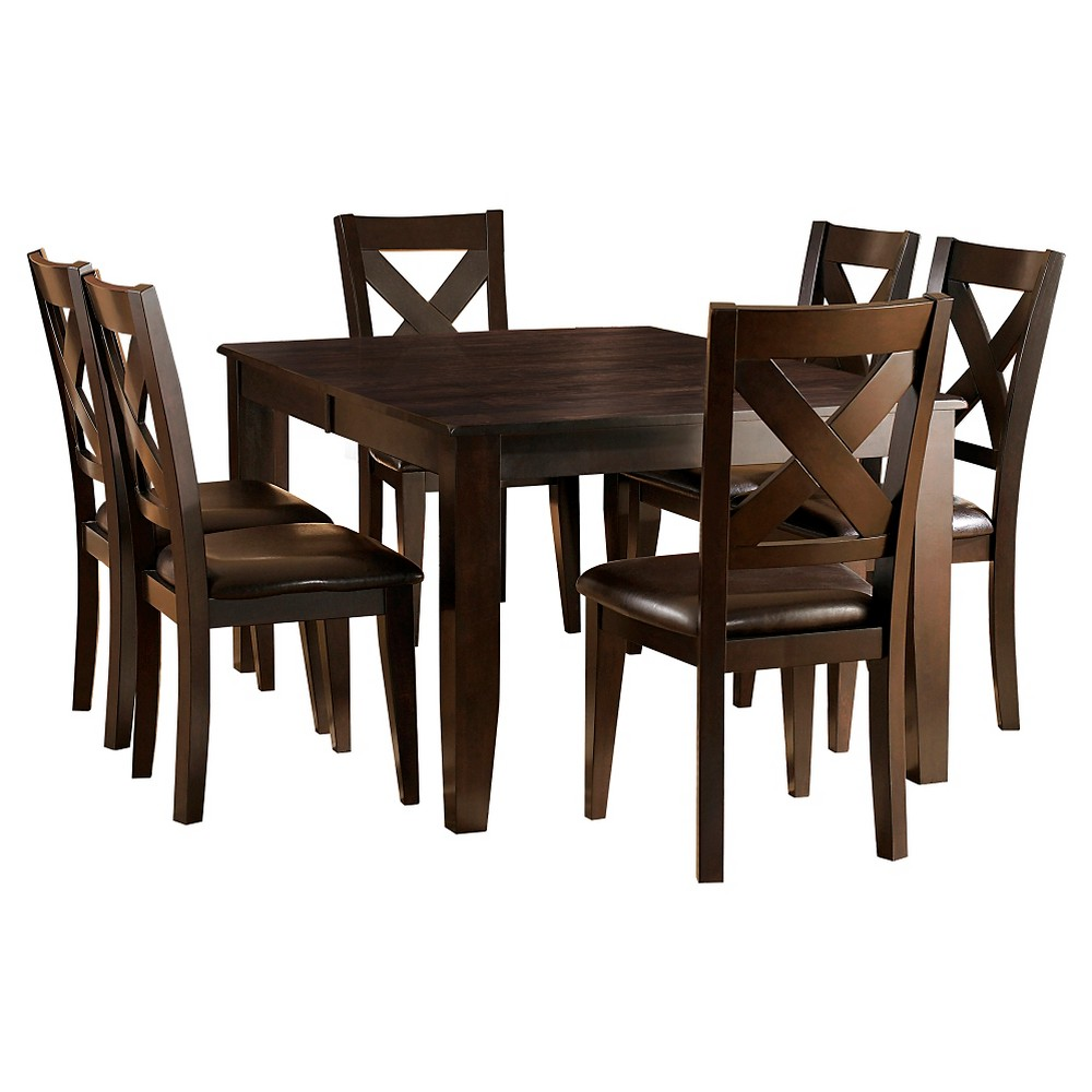 Image of 7pc Murdock Dining Set Deep Red - Inspire Q