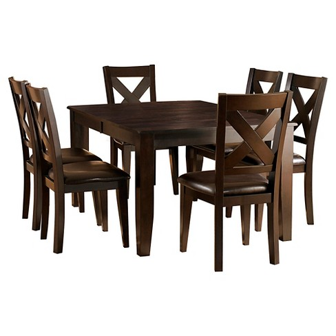 7pc Murdock Dining Set - Deep Red - Inspire Q - image 1 of 4