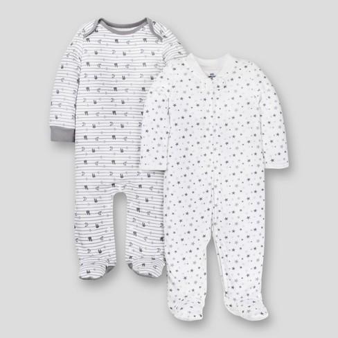 da4481e28e Lamaze Baby Organic 2pk Sleep  N Play - Gray Preemie   Target