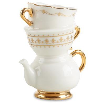 4ct Tea Time Whimsy Ceramic Bud Vase