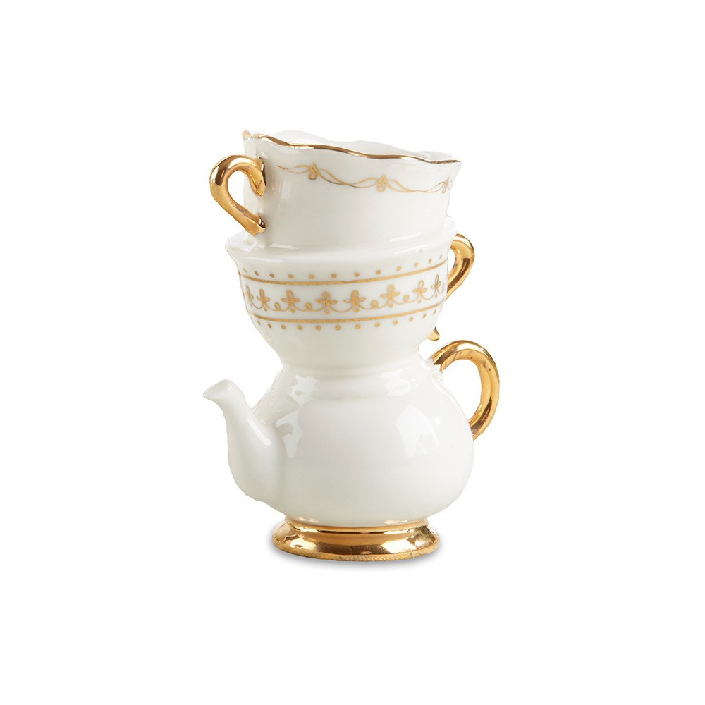4ct Kate Aspen Tea Time Whimsy Ceramic Bud Vase, Multi-Colored