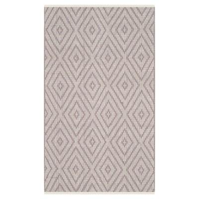 Gray/Ivory Diamond Flatweave Woven Accent Rug 2'3 x3'9  - Safavieh
