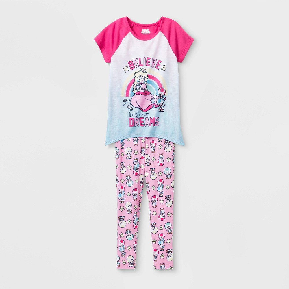 Image of Girls' Princess 2pc Pajama Set - Pink 10, Girl's