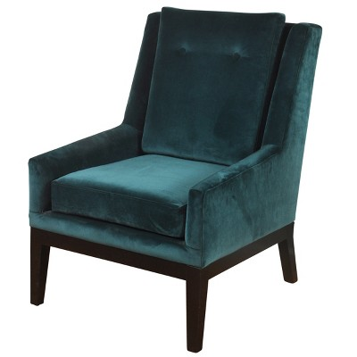 Mid Century Modern Velvet Lounge Chair Teal - Stylecraft