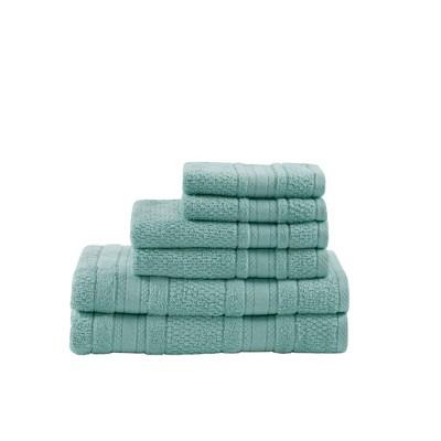 Roman Super Soft 6pc Cotton Bath Towel Set Seafoam (27x52 )