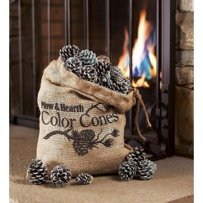 Plow & Hearth - Color-Changing Fireplace Color Cones, 2 lb. Bag