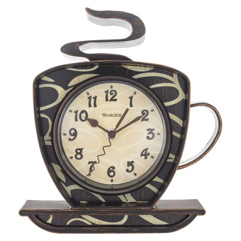 Coffee Time Wall Clock Brown - Westclox - image 1 of 2
