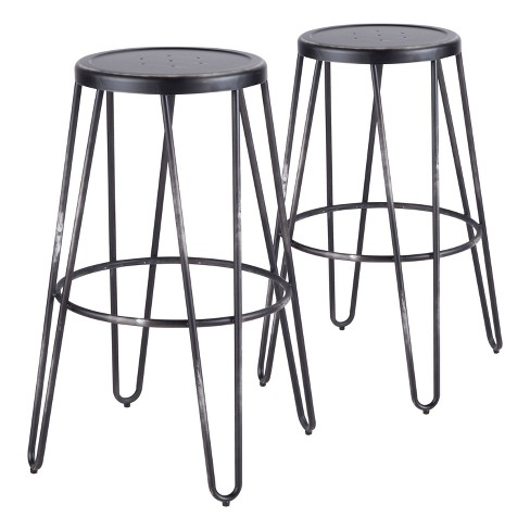 Avery Industrial Metal Barstool Vintage Black Lumisource Target