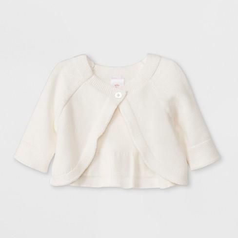 ca8227d2a0b7 Baby Girls  Long Sleeve Cropped Cardigan Top - Cat   Jack™ Cream ...