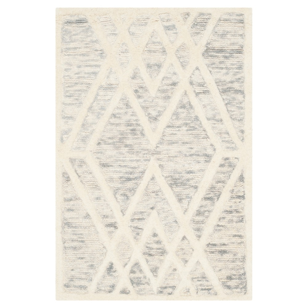 Gray/Ivory Abstract Tufted Accent Rug - (2'x3') - Safavieh