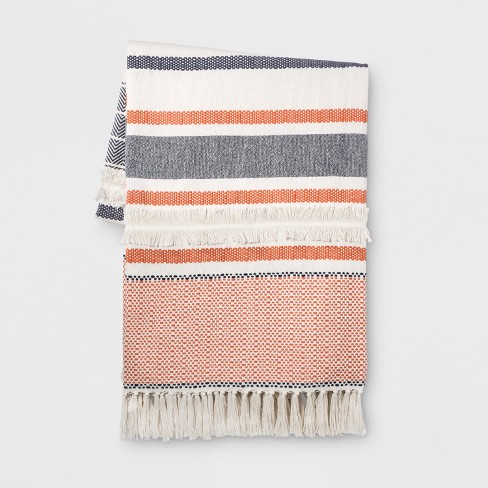 Coral Moroccan Oversized End of Bed Throw - Opalhouse™ - image 1 of 6