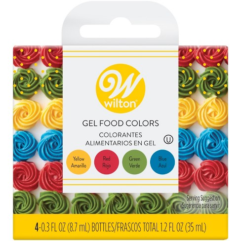Wilton Red, Yellow, Green And Blue Food Coloring - 1.2oz : Target