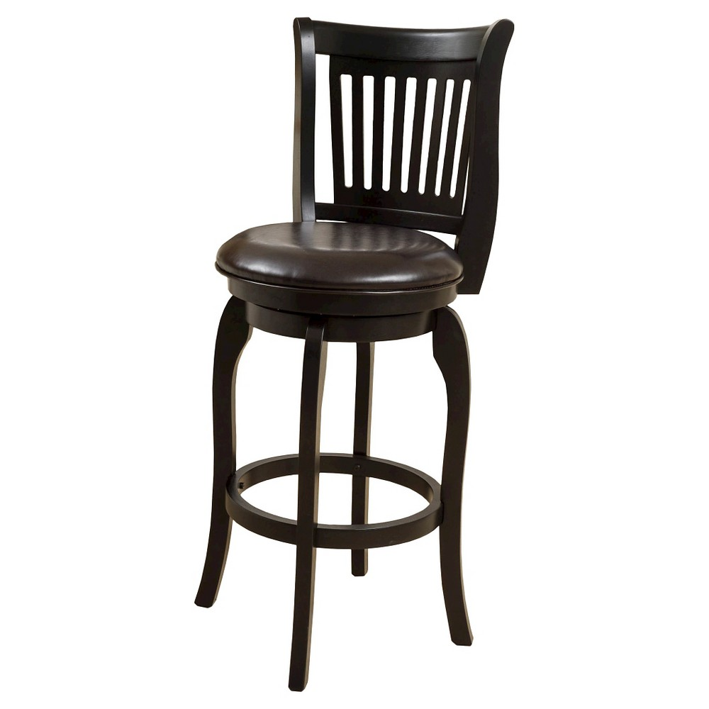 24 Prescott Bonded Leather Swivel Counter Stool - Espresso (Brown) - Christopher Knight Home