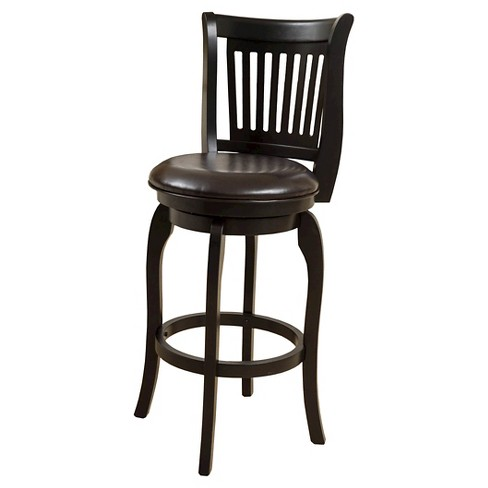"24"" Prescott Bonded Leather Swivel Counter Stool - Espresso - Christopher Knight Home - image 1 of 4"