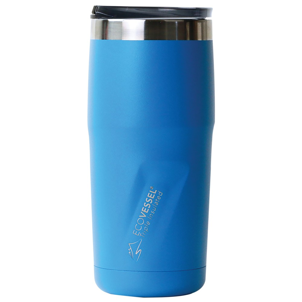 EcoVessel Metro 16oz (473ml) TriMax Triple Insulated BPA Free Tumbler with Slider Lid - Blue