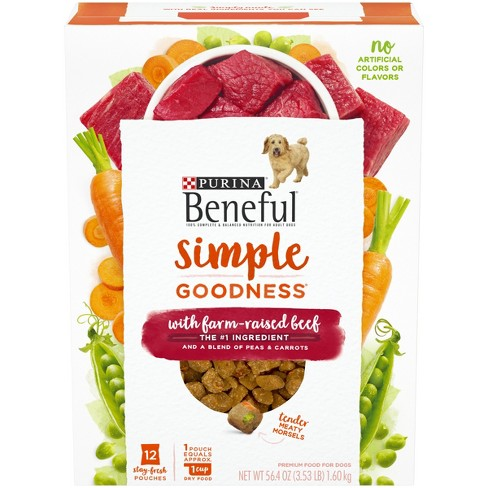Purina Beneful Dry Dog Food, Simple Goodness With Farm Raised Beef - 12ct - image 1 of 4