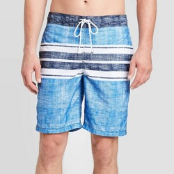 "Men's 9"" Striped Engineered Swim Shorts - Goodfellow & Co™ Blue"