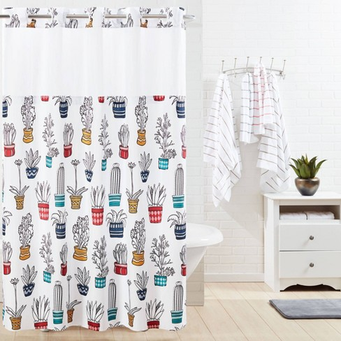 Cactus Shower Curtain With Liner