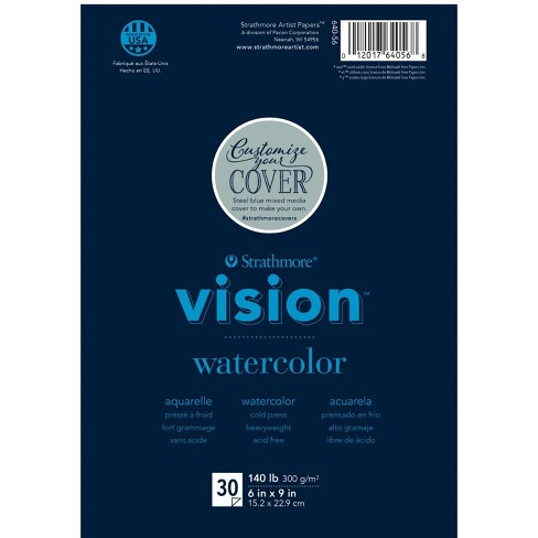 Strathmore Vision Watercolor Pad, 6 x 9 Inches, 140 lb, 30 Sheets - image 1 of 1