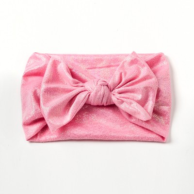Girls' Stretchy Knot Bow Headwrap - Cat & Jack™ Pink