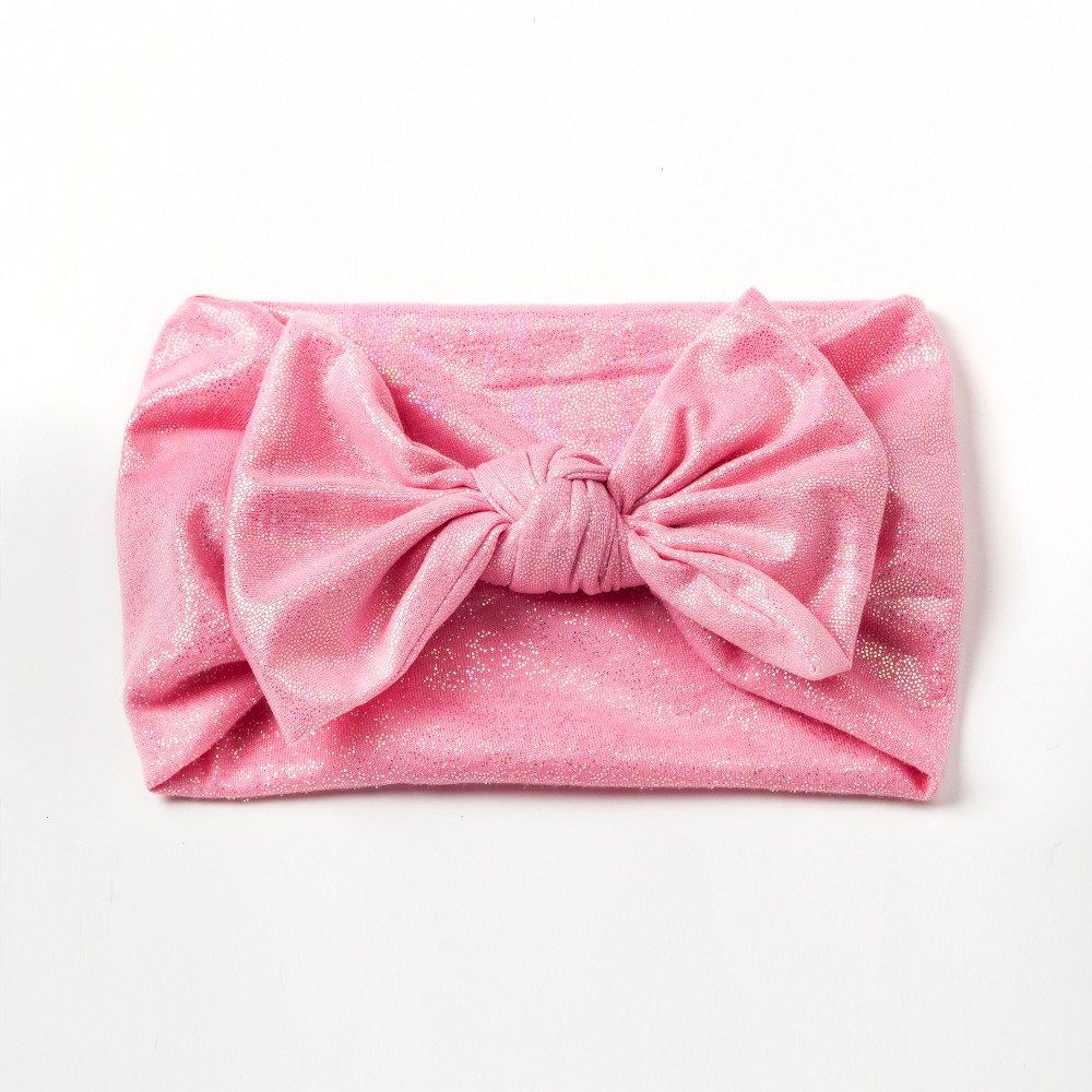 Girls' Stretchy Knot Bow Headwrap - Cat & Jack Pink