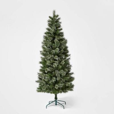 7ft Unlit Slim Artificial Christmas Tree Evergreen Virginia Pine - Wondershop™