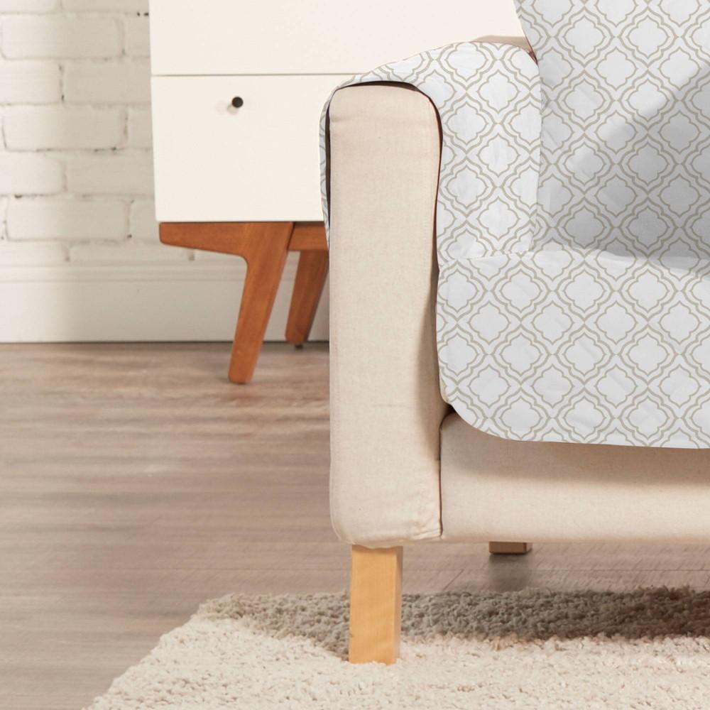 Lattice Sofa Furniture Protector Taupe Cream Sure Fit