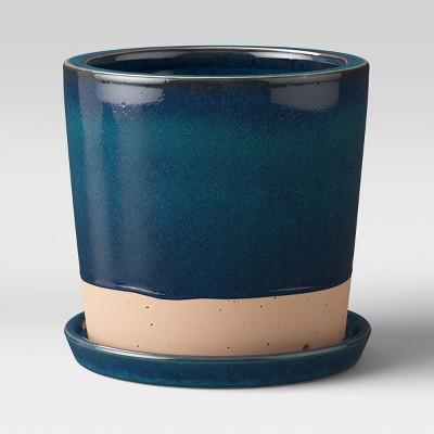 "8"" Earthenware Planter Blue - Smith & Hawken™"