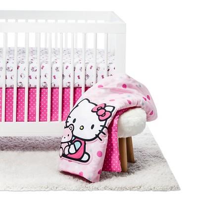 Hello Kitty Cute as a Button 3 Piece Bedding Set