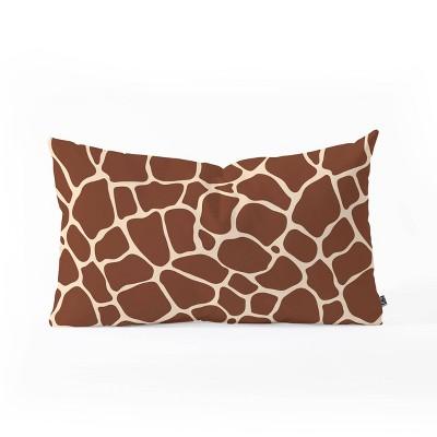 "23""x14"" Avenie Giraffe Print Lumbar Throw Pillow - Deny Designs"