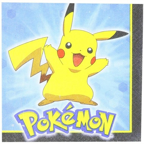 Amscan Pokemon Pikachu and Friends Beverage Napkins, 16 Count - image 1 of 1