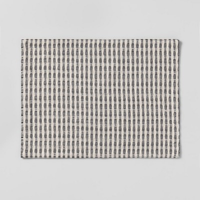 19 x14  Woven Stripe Placemat Black/Cream - Project 62™