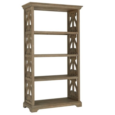 """72"""" Gallagher Wire Brushed Wooden Bookcase Oak - Inspire Q"""