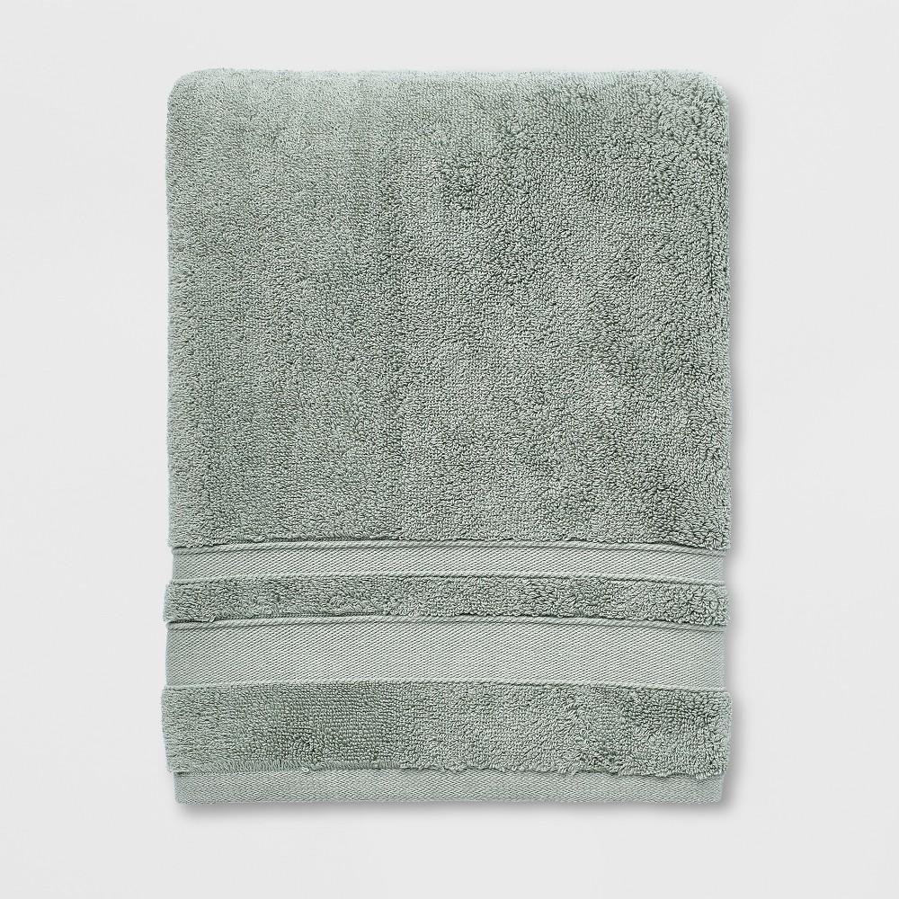 Performance Bath Towel Dark Sage Green - Threshold