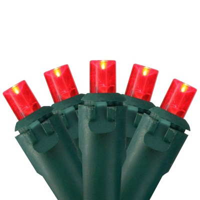 Northlight 50 Red LED Wide Angle Christmas Lights - 16.25 ft Green Wire