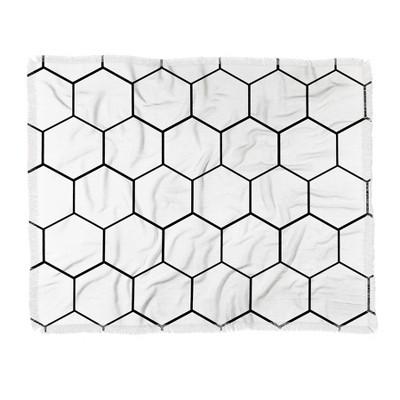 60 X50  Allyson Johnson Honey Comb Throw Blanket White - Deny Designs