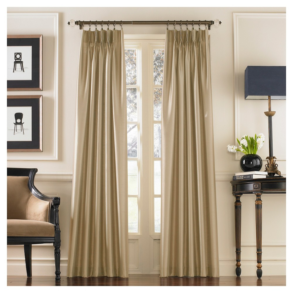 "Image of ""Curtainworks Marquee Lined Curtain Panel - Sand (120""""), Brown"""