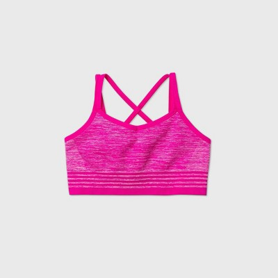 Girls' Seamless Cami Strap Bra - All in Motion™ Pink