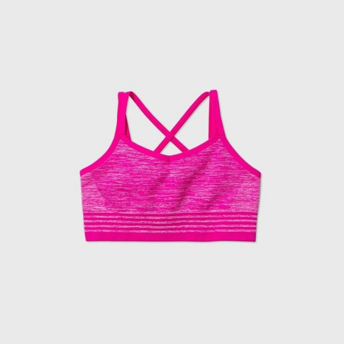 Girls' Seamless Cami Strap Bra - All in Motion™ Pink - image 1 of 2